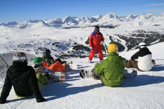 snowboard lesson
